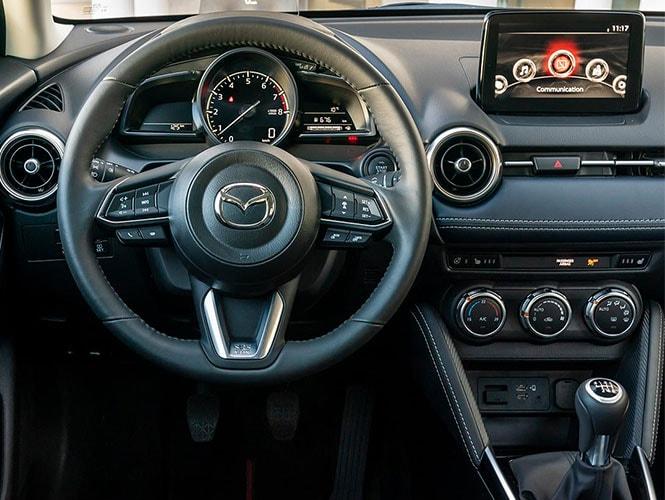 Die Innenansicht des Mazda 2