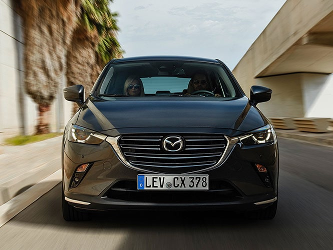Mazda CX-3 Grau Frontalansicht