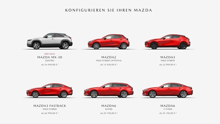Mazda Konfigurator Schritt 1 - Modell wählen