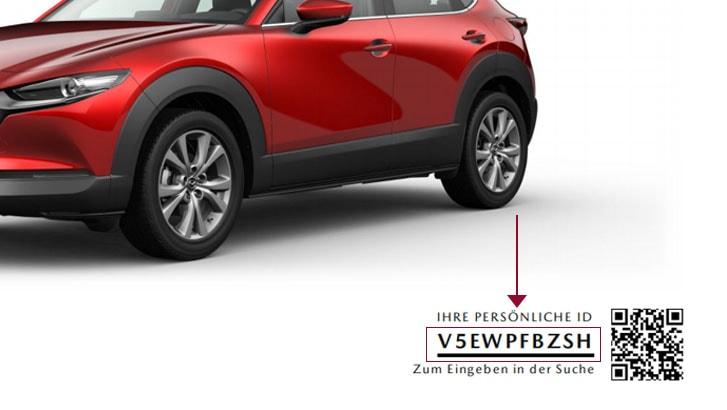 Mazda Konfigurator Schritt 3 - Persönliche ID kopieren